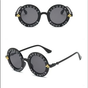 Retro Round Sunglasses with letters